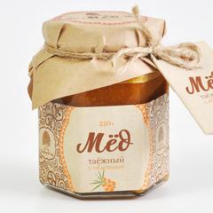 Мёд Таёжный с соком облепихи  Сибирский Кедр 220 гр