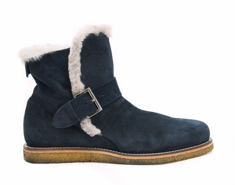 Высокие замшевые ботинки A.Hotto 54083 с на меху