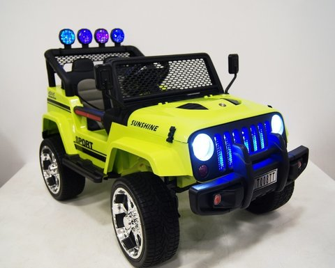 Электромобиль RiverToys Jeep T008TT зеленый