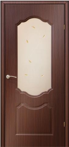 Дверь AIRON Канадка Анастасия, цвет венге, остекленная