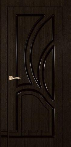 Дверь Румакс Карелия-2 ДГ, цвет дуб мореный, глухая