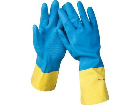 STAYER DUAL Pro перчатки латексные с неопреновым покрытием, хозяйственно-бытовые, размер L