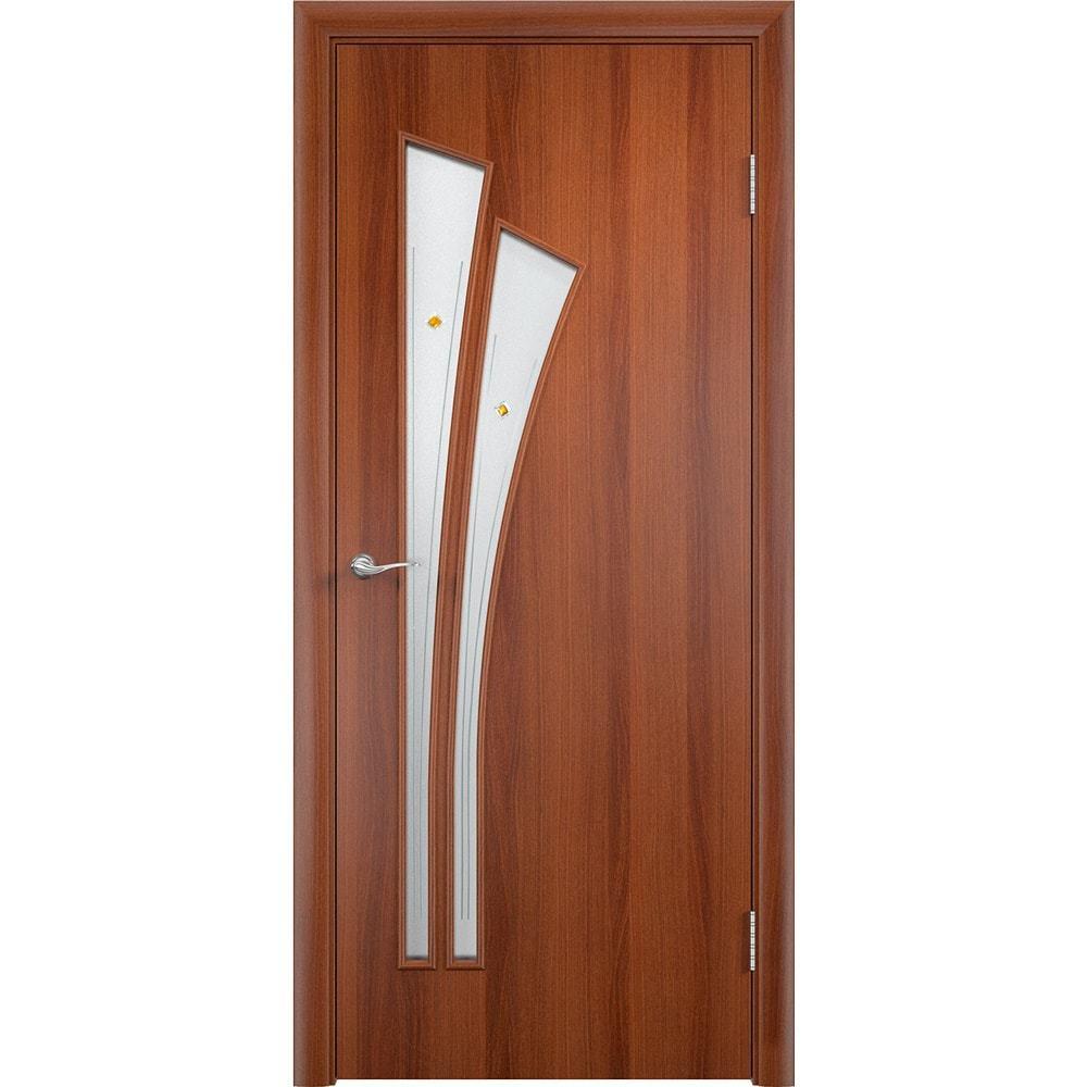 Ламинированные двери Ветка итальянский орех со стеклом фьюзинг vetka-pof-ital-oreh-dvertsov-min.jpg