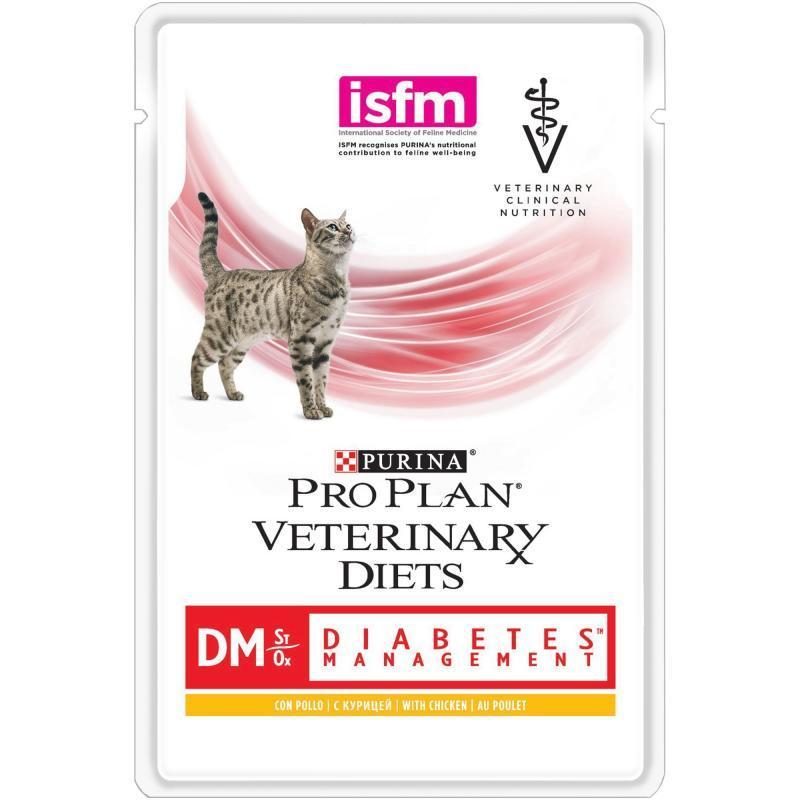 Ветеринарные диеты Влажный корм для кошек, Purina Pro Plan Veterinary Diets DM, при диабете курицей 12381648.jpg