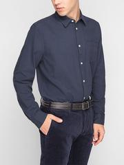 BSR001208 рубашка мужская, темно-синяя