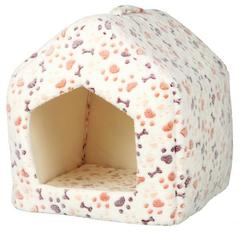 Trixie Лежак-пещера Lingo, 40  40  45 см, белый/бежевый