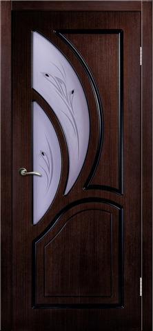Дверь Румакс Карелия-2 ДО, цвет дуб мореный, остекленная