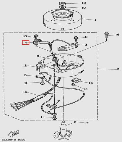 Катушка импульсная  для лодочного мотора T3S SEA-PRO (8-4)