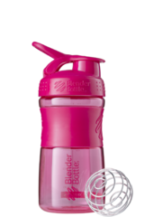 BlenderBottle SportMixer, Универсальная Спортивная бутылка-шейкер с венчиком.  Pink-малиновый 591 мл