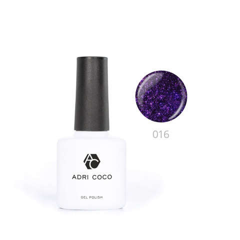 Цветной гель-лак ADRICOCO №016 мерцающий фиолетовый (8 мл.)