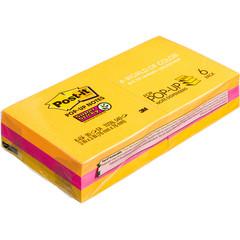 Стикеры Post-it Super Sticky Z-блок R330-6SSUC 6бл (хол. неон.)