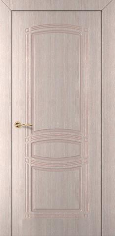 Дверь Румакс Троя-1 ДГ, цвет беленый дуб, глухая