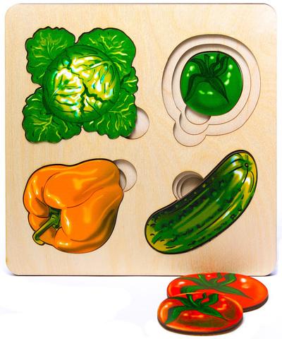 Развивающая доска Больше-меньше Овощи, Нескучные игры
