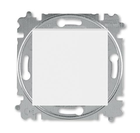 Выключатель одноклавишный. Цвет Белый / ледяной. ABB. Levit(Левит). 2CHH590145A6001