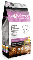Корм ProBalance Immuno Puppies small and medium для щенков мелких и средних пород