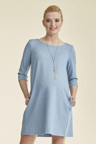 Платье 08830 серо-голубой