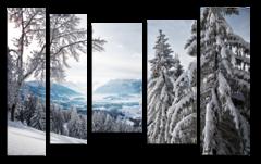 """Модульная картина """"Снежный лес"""""""