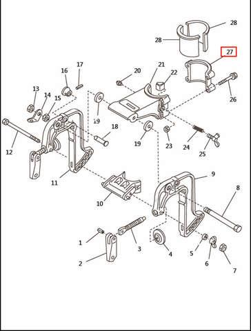 Скоба кронштейна  для лодочного мотора T2,5 SEA-PRO (6-27)