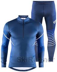 Элитный лыжный гоночный комбинезон Craft Pace XC Blue