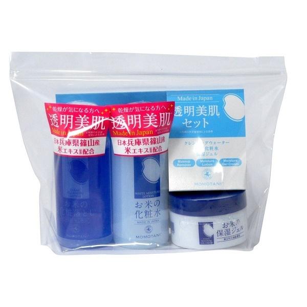 Дорожный набор косметических средств по уходу за кожей с экстрактом риса Momotani Rice Moisture Travel Set