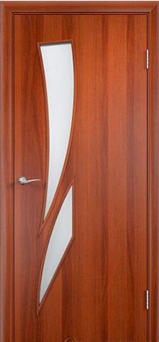 Дверь Сибирь Профиль Стрелиция (С-2), цвет итальянский орех, остекленная