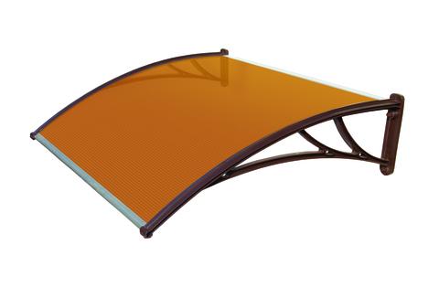 янтарный козырек для крыльца 1200 мм