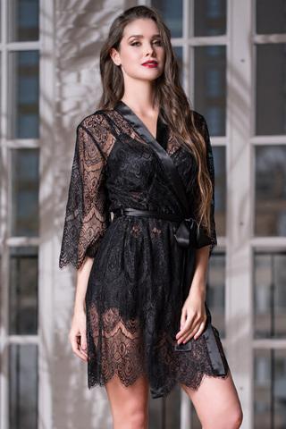 Халат Laguna Deluxe 2133 Black Mia-Amore
