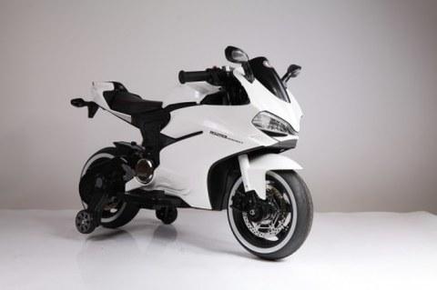 Электромотоцикл Rivertoys белый А001АА
