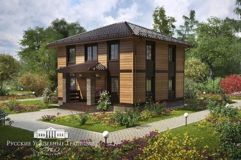 """Двухэтажный дом """"Марсель"""" 147 кв.м. из СИП панелей с верандой"""