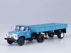 1:43 ЗиЛ-130В1+полуприцеп ОДАЗ-885 (голубой)