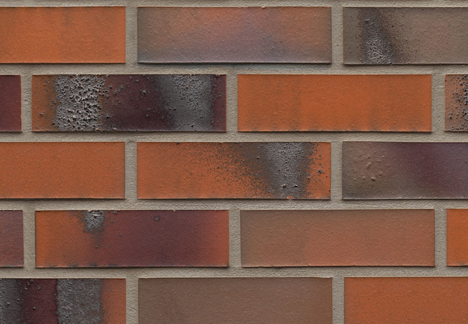 Облицовочная клинкерная плитка Feldhaus Klinker, Carbona, R562NF14, terreno bluastro, поверхность расплавленный обжиг