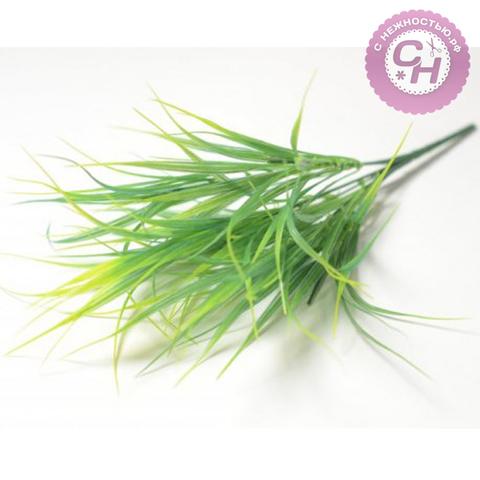 Трава осока пластиковая, букет 6 веток, 35 см.