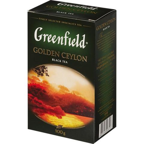 Чай Greenfield Golden Ceylon листовой черный,100г