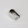 Держатель кулона - простая петелька 10х6 мм (цвет - античное серебро)