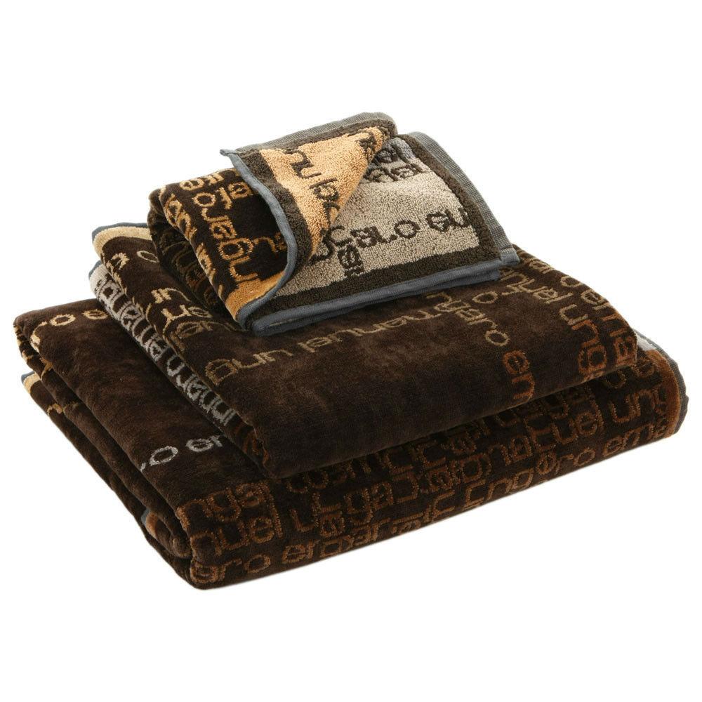 Набор полотенец 2 шт Emanuel Ungaro Signature коричневый