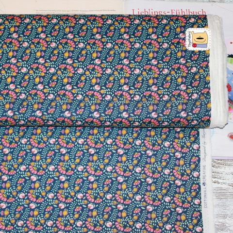 Ткань для пэчворка  20140 (насыщенные цветы)
