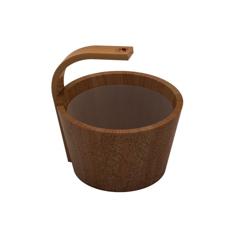 Ведра и кадушки: Ведро SAWO 300-D-DRF Dragonfire (натуральный цвет кедр, 9 литров) ведра и кадушки кадушка деревянная sawo 300 tp 9 литров с пластиковой вставкой