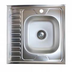 Мойка КромРус EC-209 3,5 для кухни из нержавеющей стали, левая
