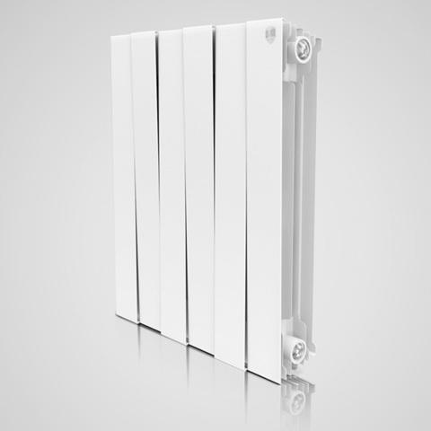Радиатор биметаллический Royal Thermo PianoForte Bianco Traffico (белый)  - 6 секций