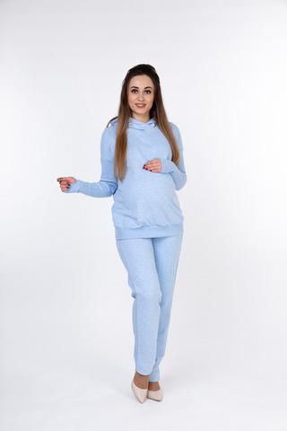Спортивный костюм для беременных и кормящих 10055 голубой