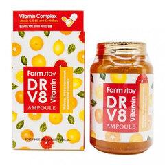 Farmstay Dr-V8 Vitamin Ampoule - Ампульная эссенция для лица с витаминами