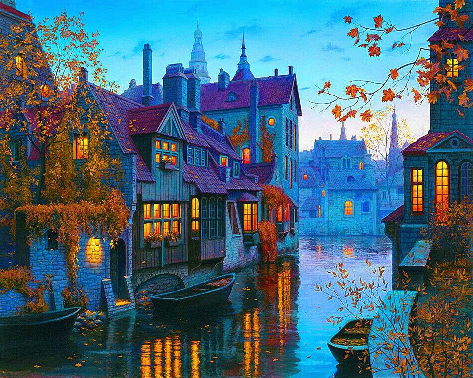 Картина раскраска по номерам 50x65 Вечерняя Венеция ...