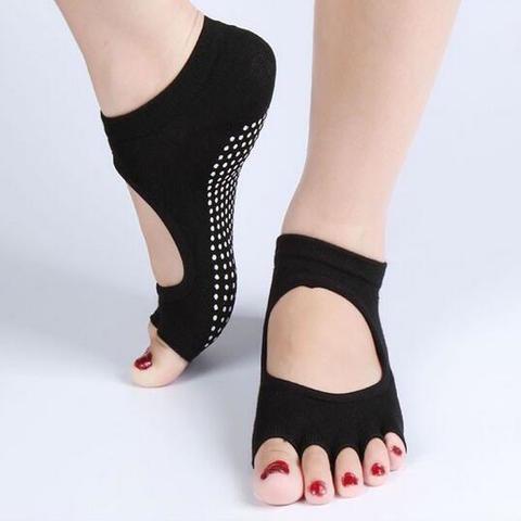 Йогатопы с вырезами - нескользящие носки Yogatops (для йоги, пилатеса и фитнеса)