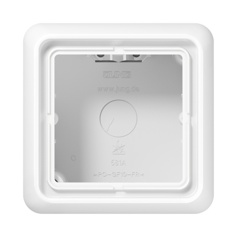 Накладная коробка на 1 пост. Цвет Белый. JUNG CD Накладные коробки. CD581AWW
