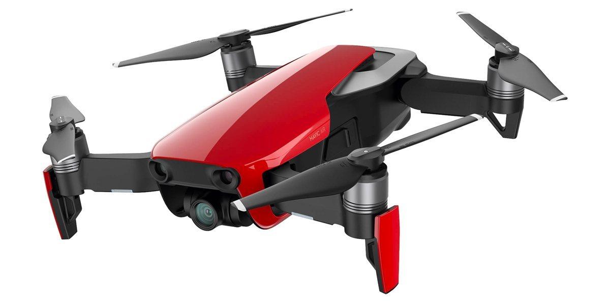 Квадрокоптер DJI MAVIC AIR (EU) Flame Red, Красный вид сбоку