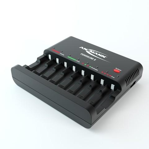 Быстрое зарядное устройство ANSMANN Powerline 8 (AA, AAA)