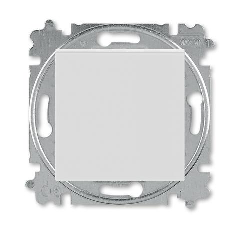 Выключатель одноклавишный. Цвет Серый / белый. ABB. Levit(Левит). 2CHH590145A6016