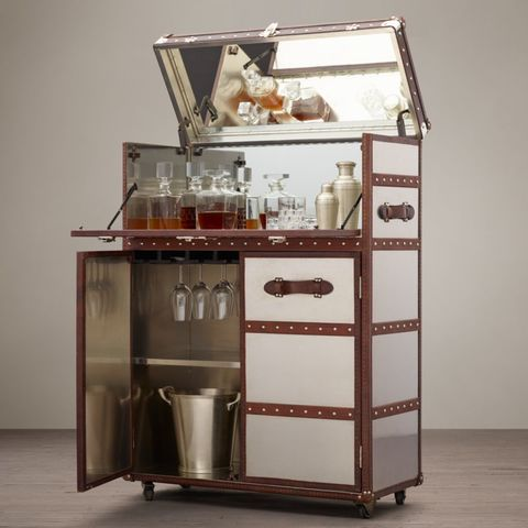 Mayfair Bar Cart - Brushed Steel