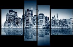 """Модульная картина """"Ночной Нью-Йорк"""""""