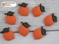 Пластиковый декор Лимон оранжевый